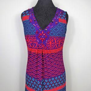 Hale Bob Sheath Dress Sleeveless Embellished